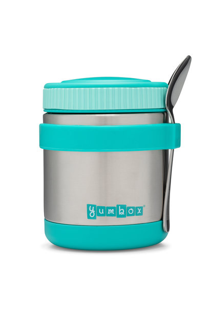 Yumbox Zuppa Caicos Aqua with spoon