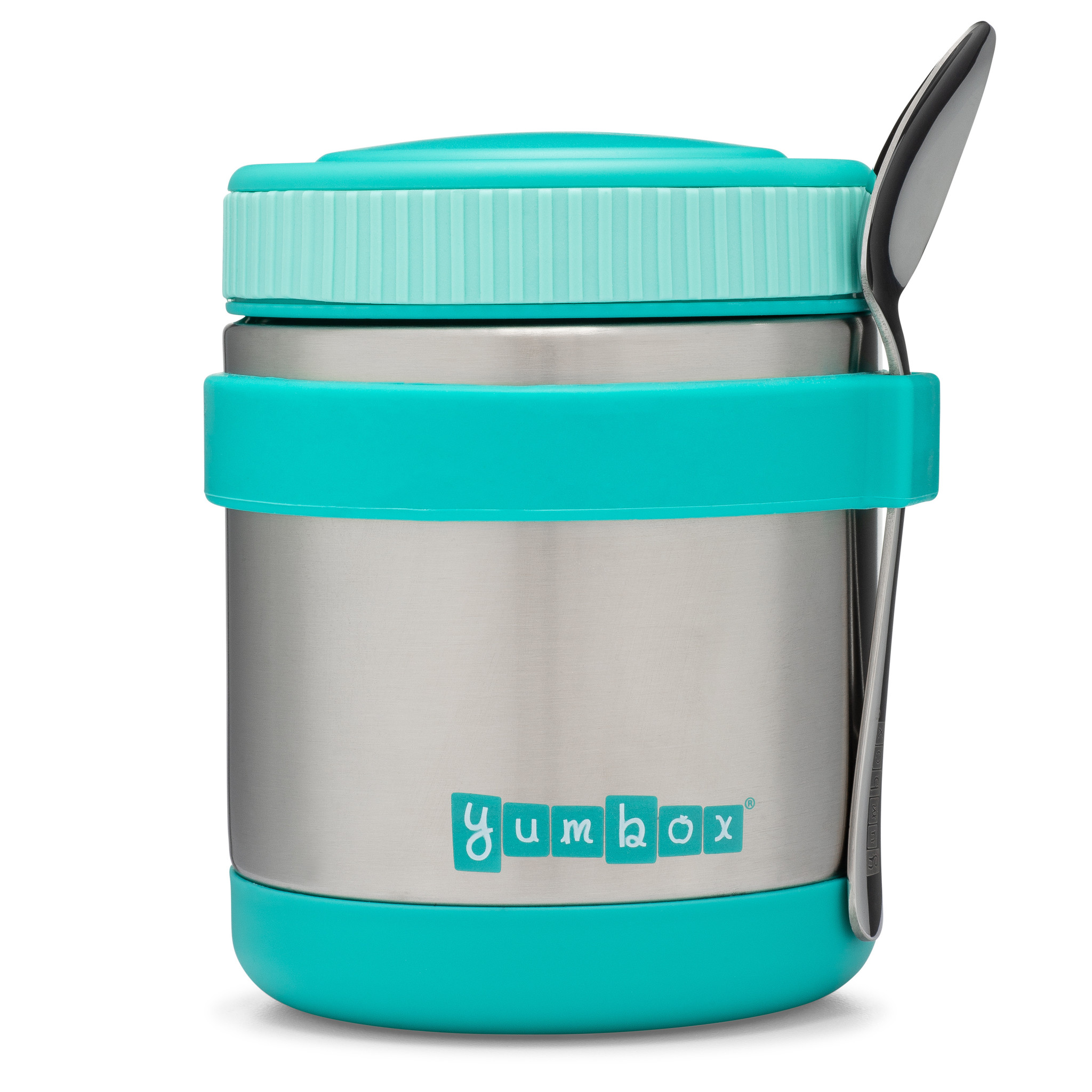 Yumbox Zuppa Caicos Aqua with spoon-1