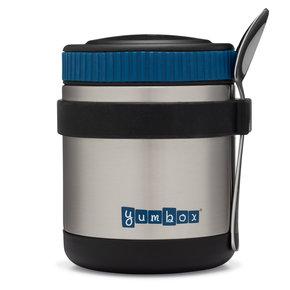 Yumbox Zuppa thermos pot Twilight Zwart met lepel