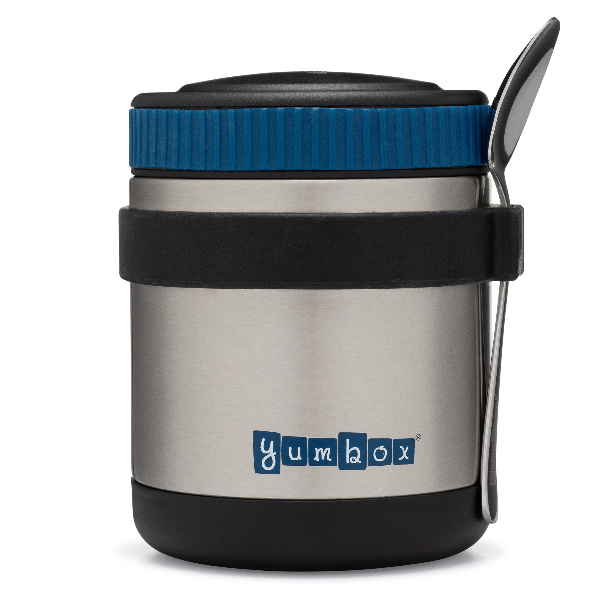 Yumbox Zuppa Twilight Black with spoon-1