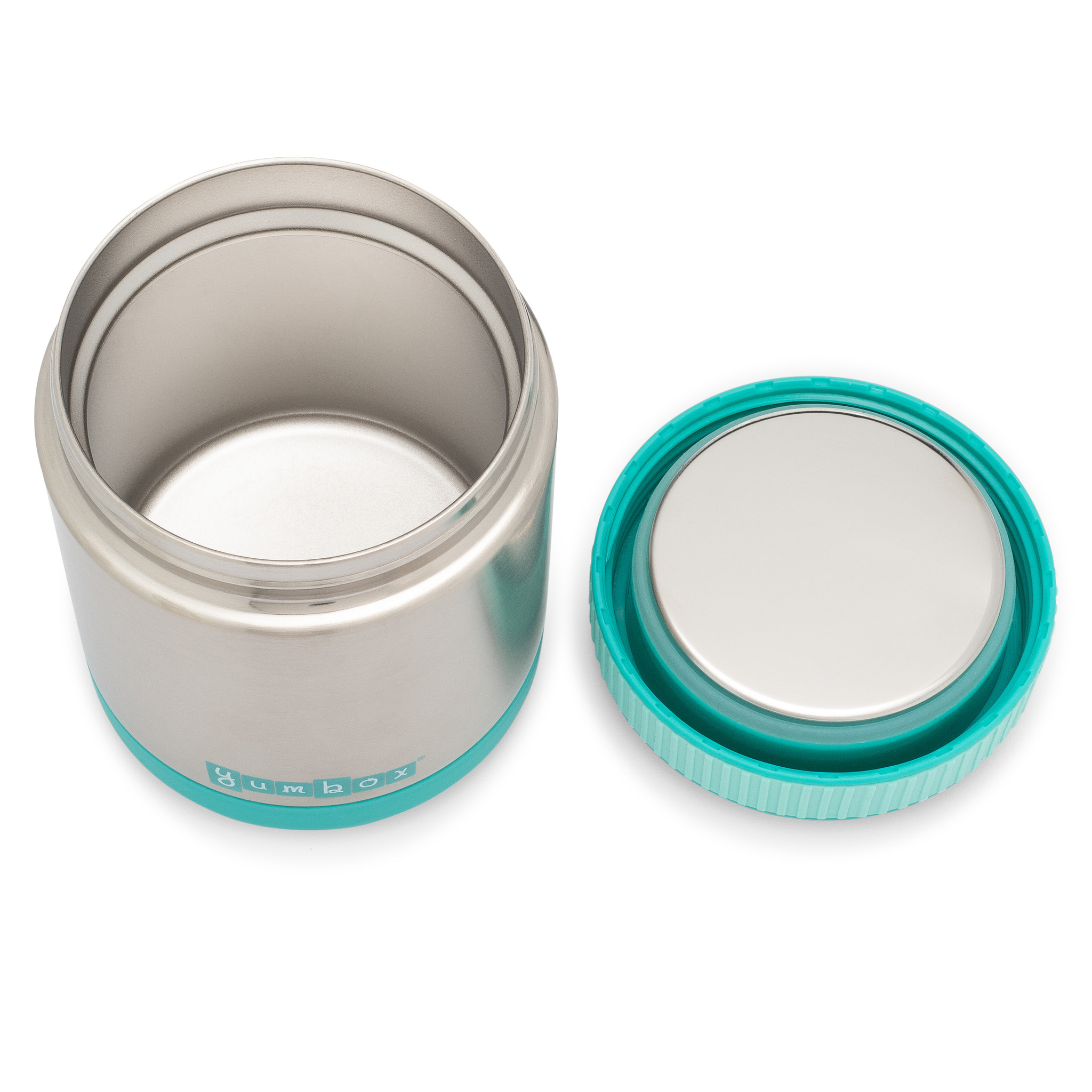 Yumbox Zuppa Caicos Aqua with spoon-4