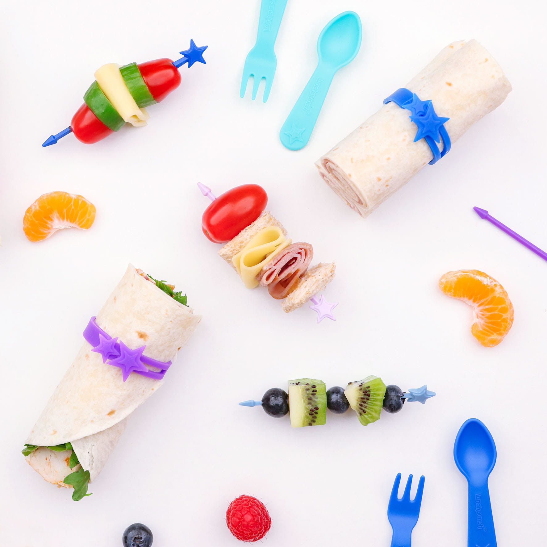 Lunch Punch Silicone Wrap Bands - Blue-4