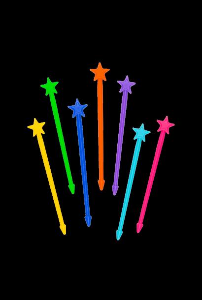 Stix 7-pack - regenboog