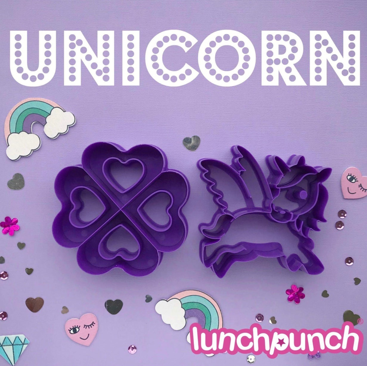 Lunch Punch Sandwich Cutters - Unicorn-3