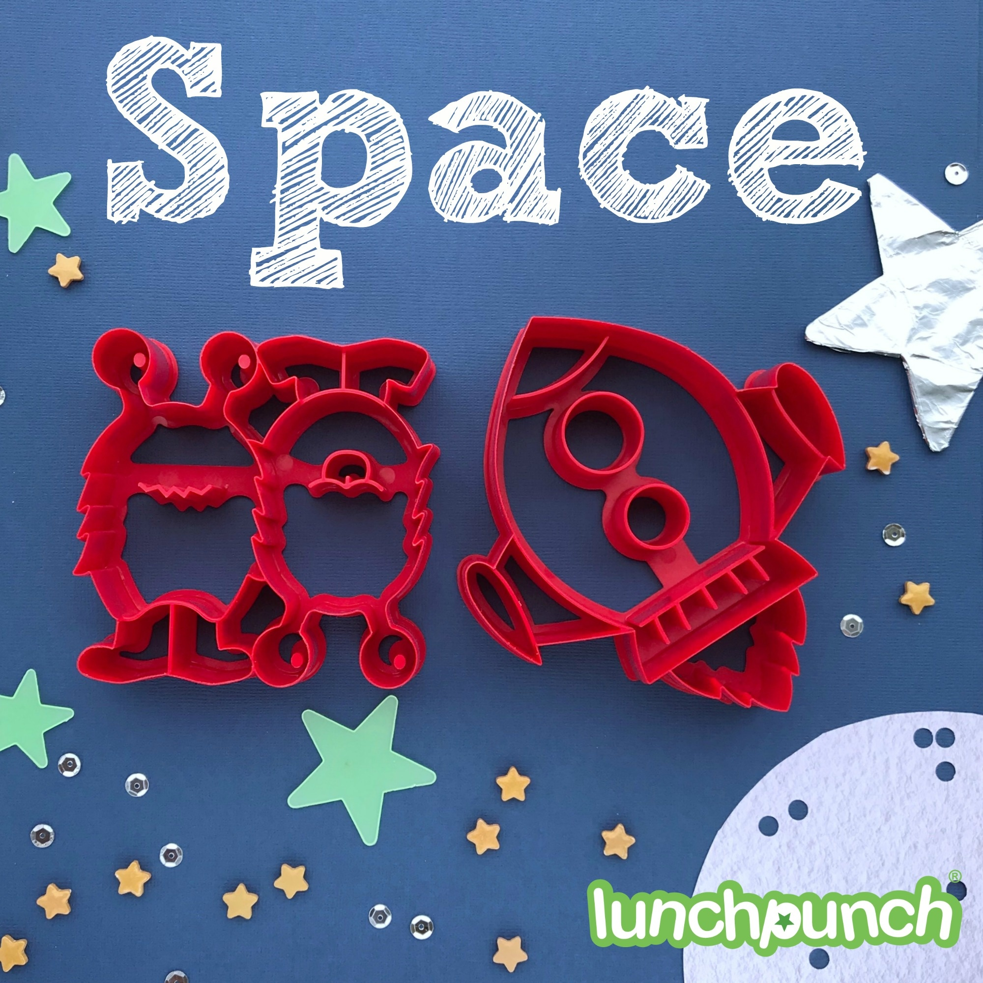 Lunch Punch Sandwich Cutters - Space-9