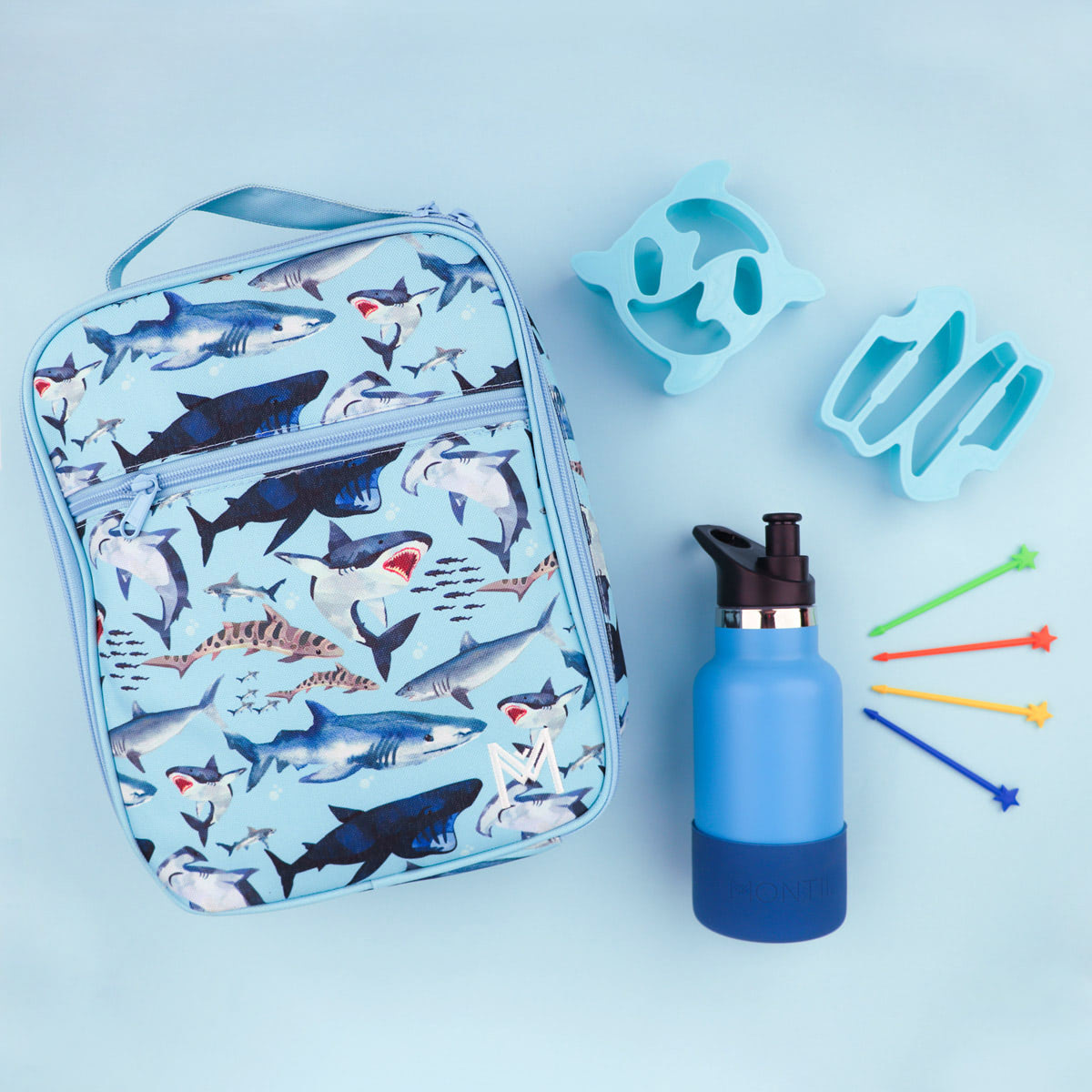 Montii insulated Lunch Bag - Shark-7