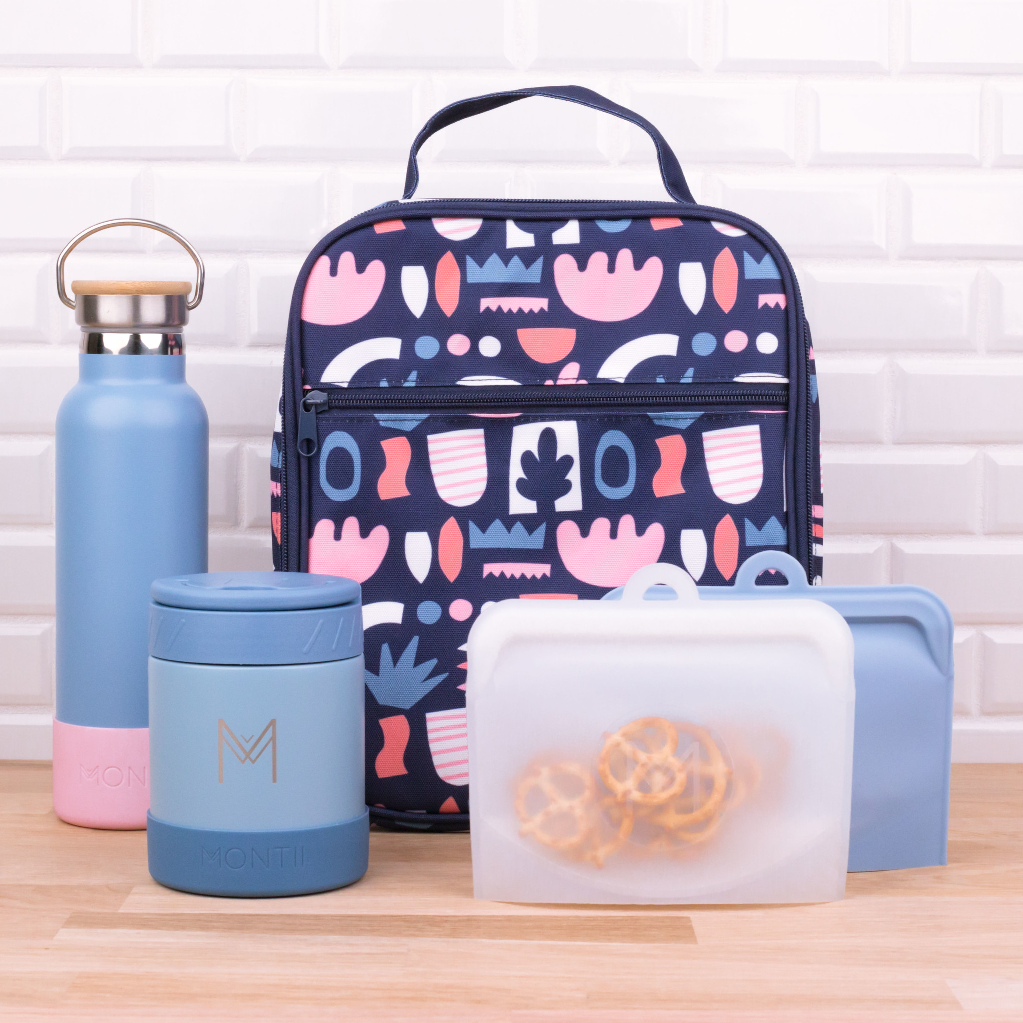 Montii insulated Lunch Bag - Bloom-7