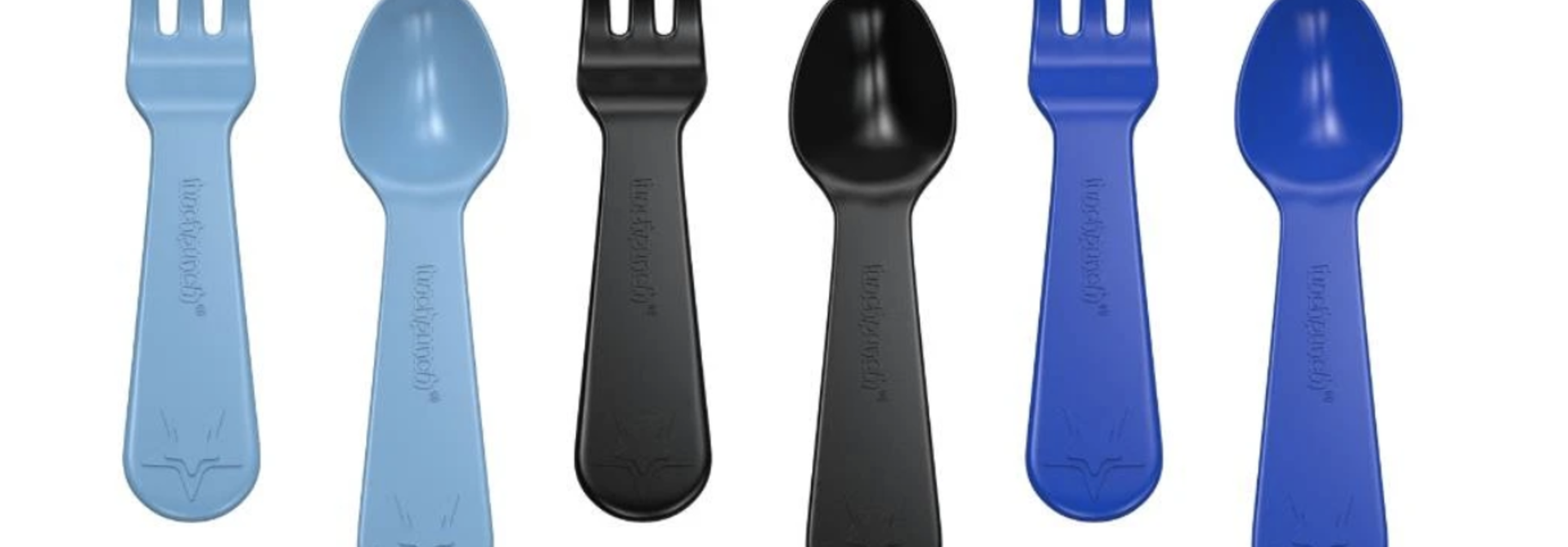 Lunch Punch Fork and Spoon - Blue