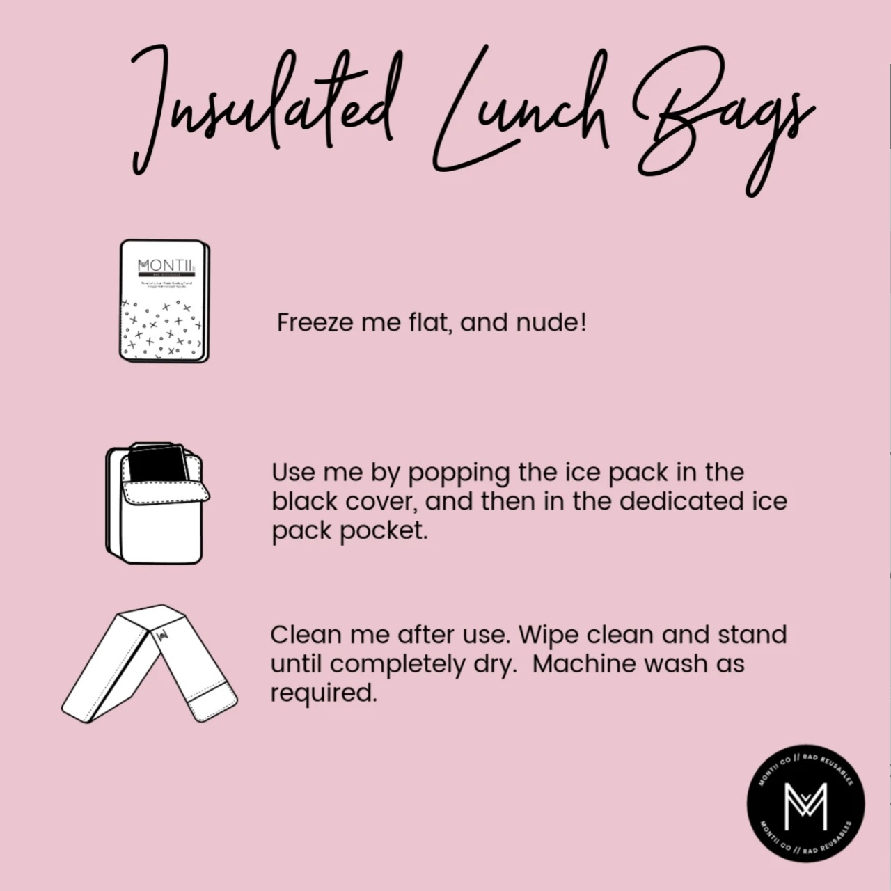 Montii insulated Lunch Bag - Bloom-9