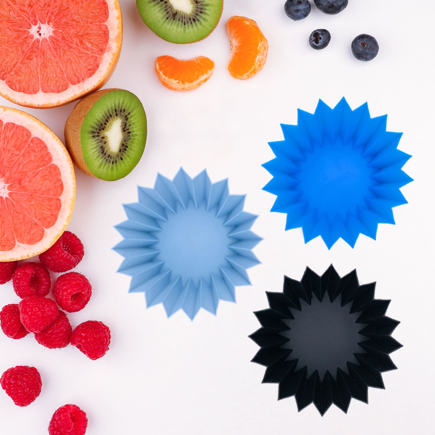 Lunch Punch Silicone Cups Blue-1