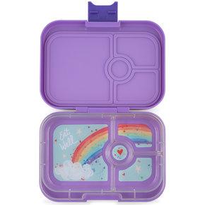 Yumbox Panino broodtrommel 4 vakken Dreamy paars / Rainbow tray
