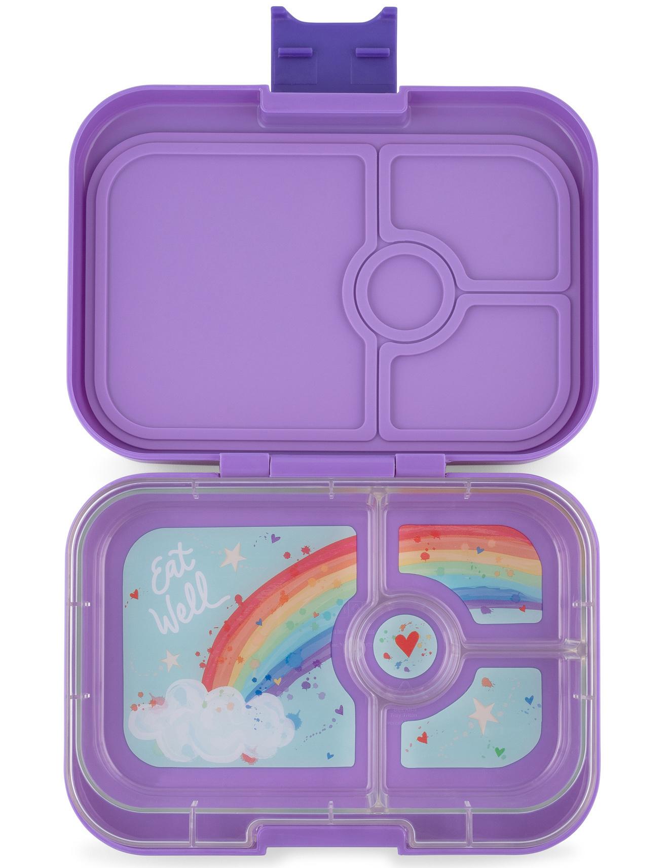 Yumbox Panino broodtrommel 4 vakken Dreamy paars / Rainbow tray-1