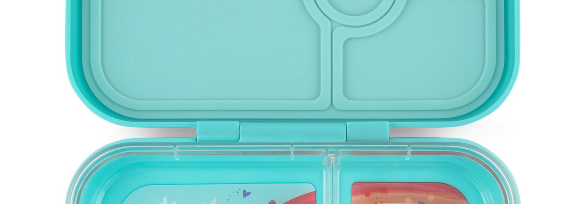 Yumbox Panino 4-sections Misty Aqua / Rainbow tray