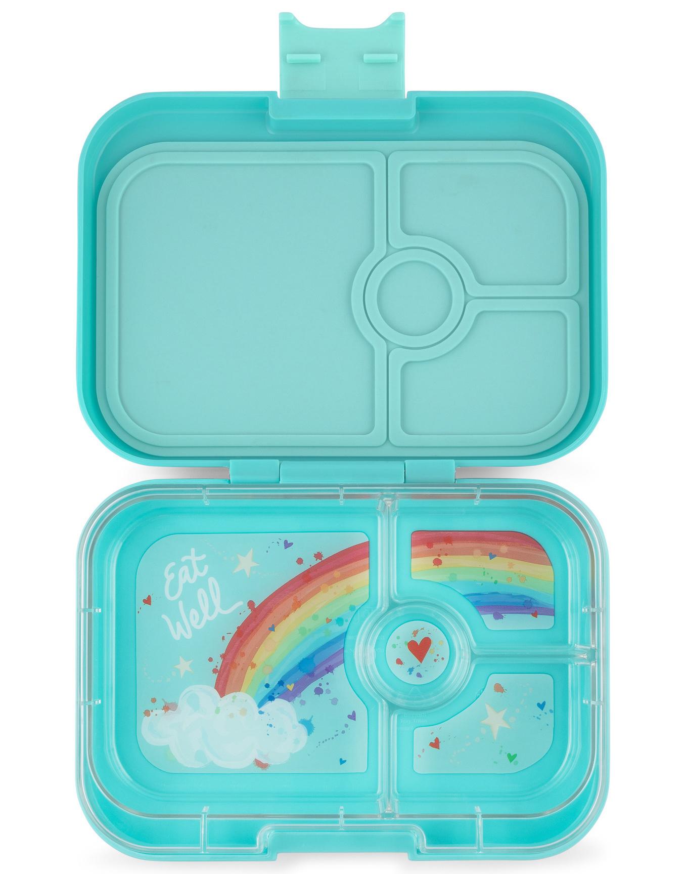 Yumbox Panino 4-sections Misty Aqua / Rainbow tray-1