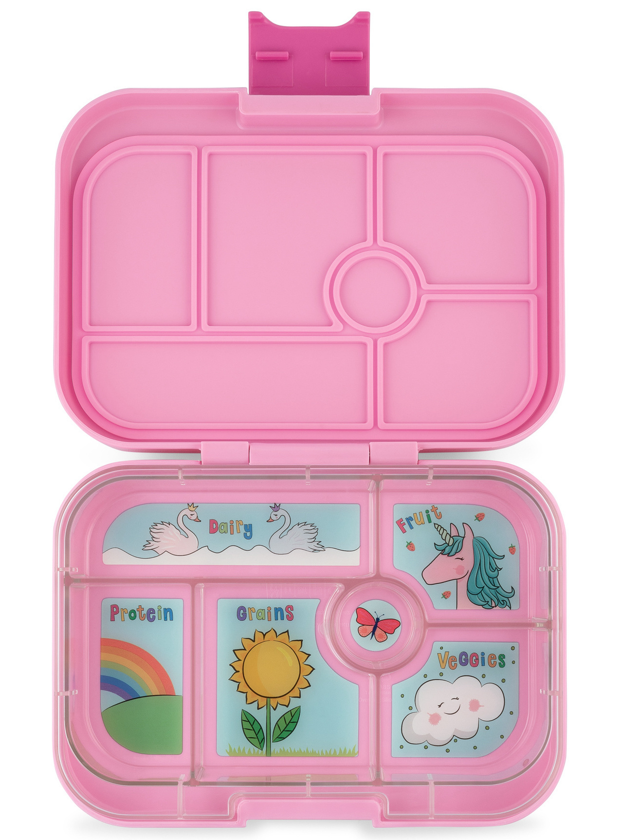 Yumbox Original 6-sections Power pink/ Unicorn tray-1