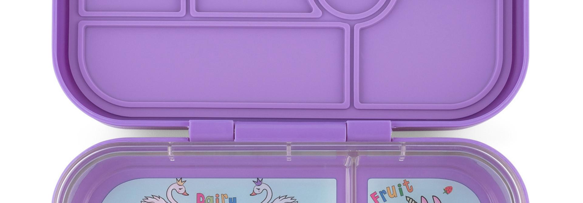 Yumbox Original 6-vakken Dreamy paars / Unicorn tray
