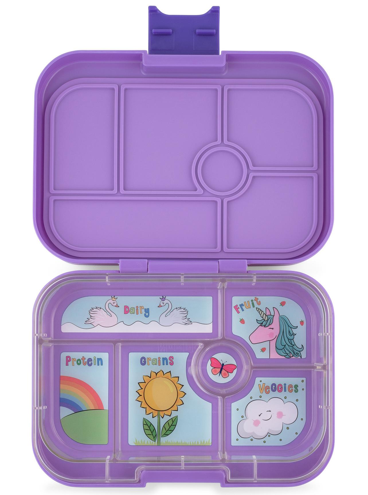 Yumbox Original 6-sections Dreamy purple / Unicorn tray-1