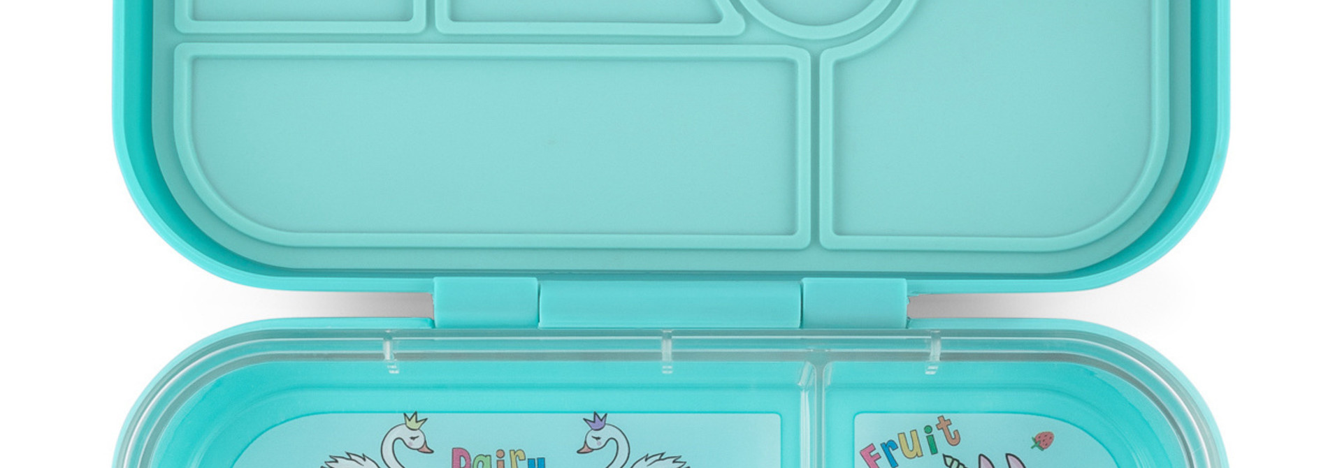 Yumbox Original 6-vakken Misty aqua / Unicorn tray