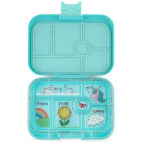 Yumbox Original 6-vakken Misty aqua / Unicorn tray