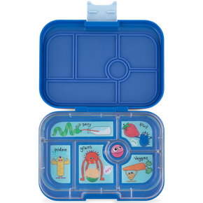 Yumbox Original 6-sections True blue / Funny Monsters tray
