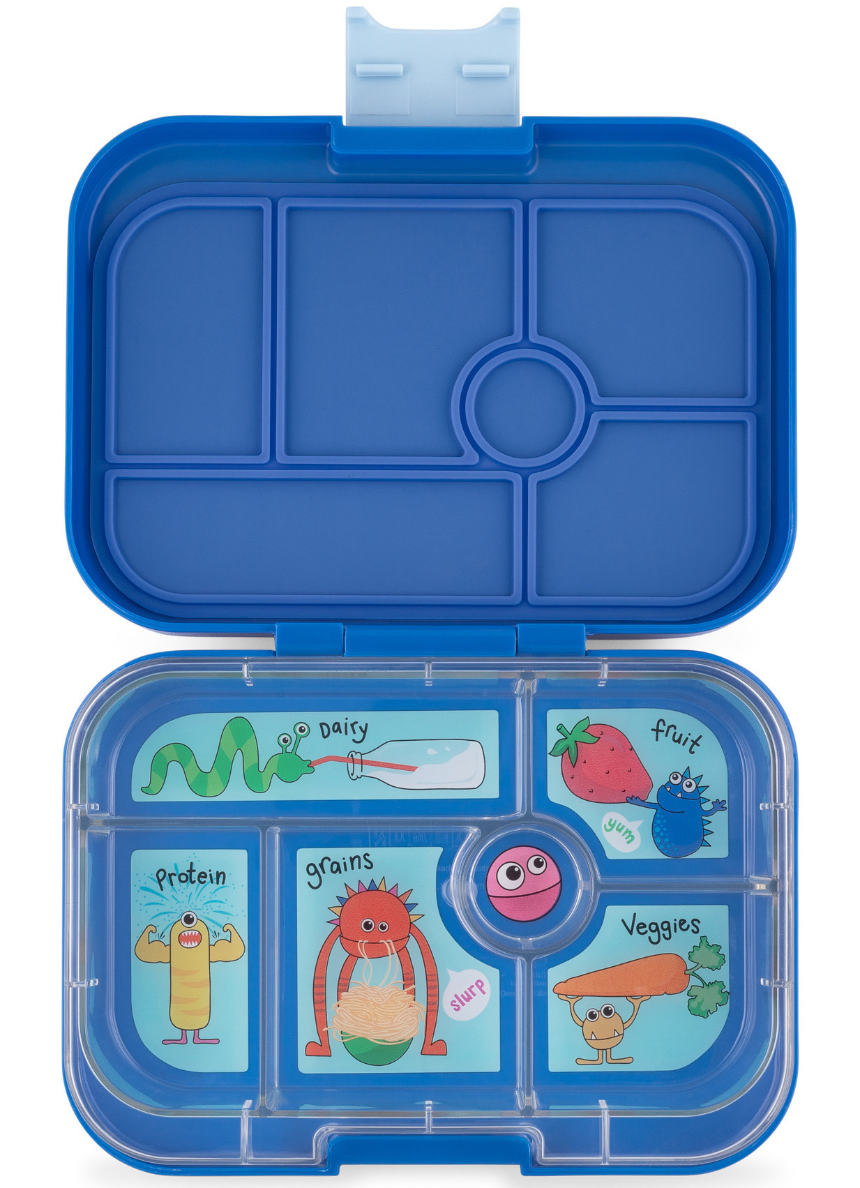 Yumbox Original 6-vakken True blue / Funny Monsters tray-1