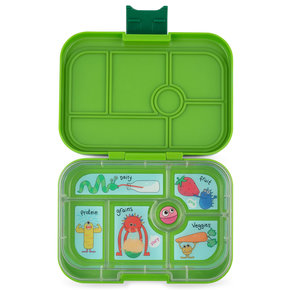 Yumbox Original 6-sections Go Green / Funny Monsters tray