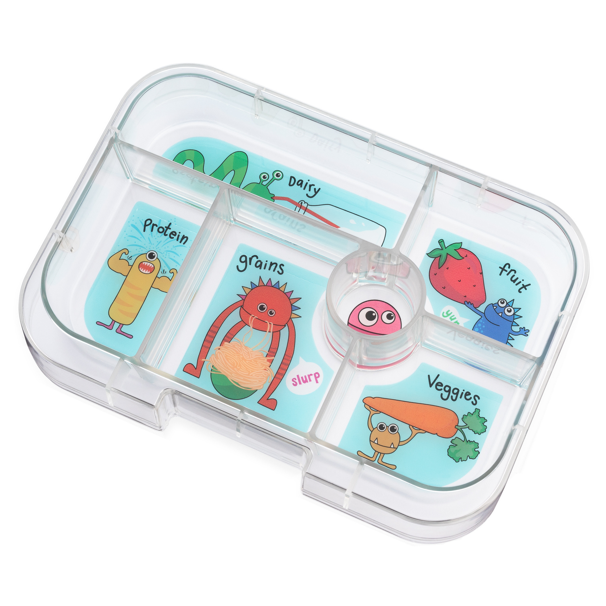 Yumbox Original extra tray 6-sections Funny Monsters-1