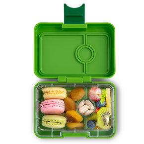 Yumbox MiniSnack box 3 sections Avocado Green (Cilantro Green) / Toucan tray