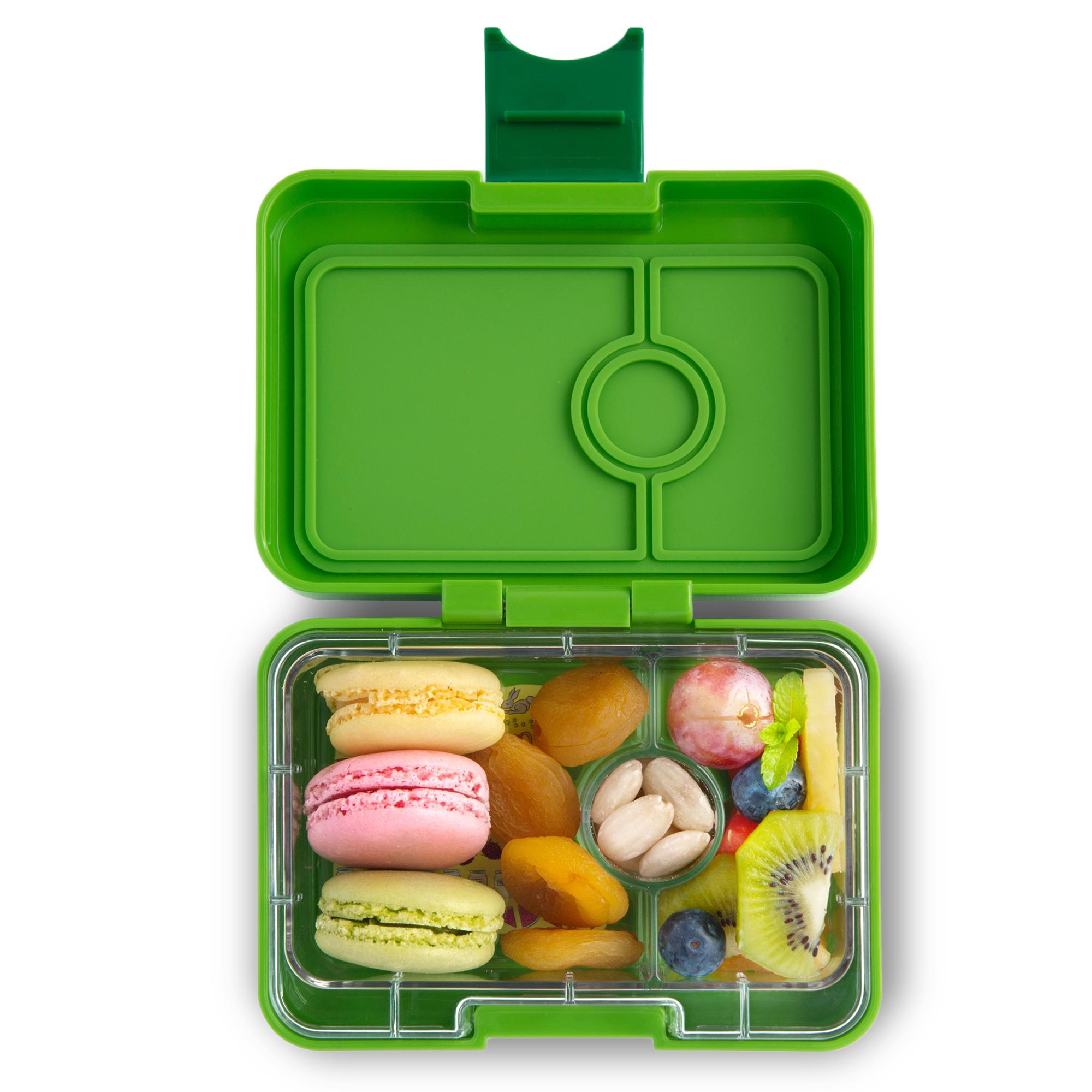 Yumbox MiniSnack broodtrommel 3 vakken Avocado groen (Go groen) / Toucan tray-1