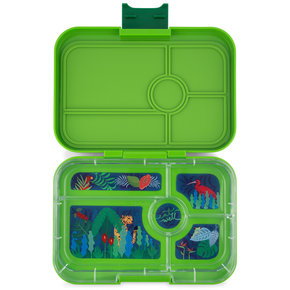 Yumbox Tapas XL lunchbox Go groen / Jungle tray 5-sections