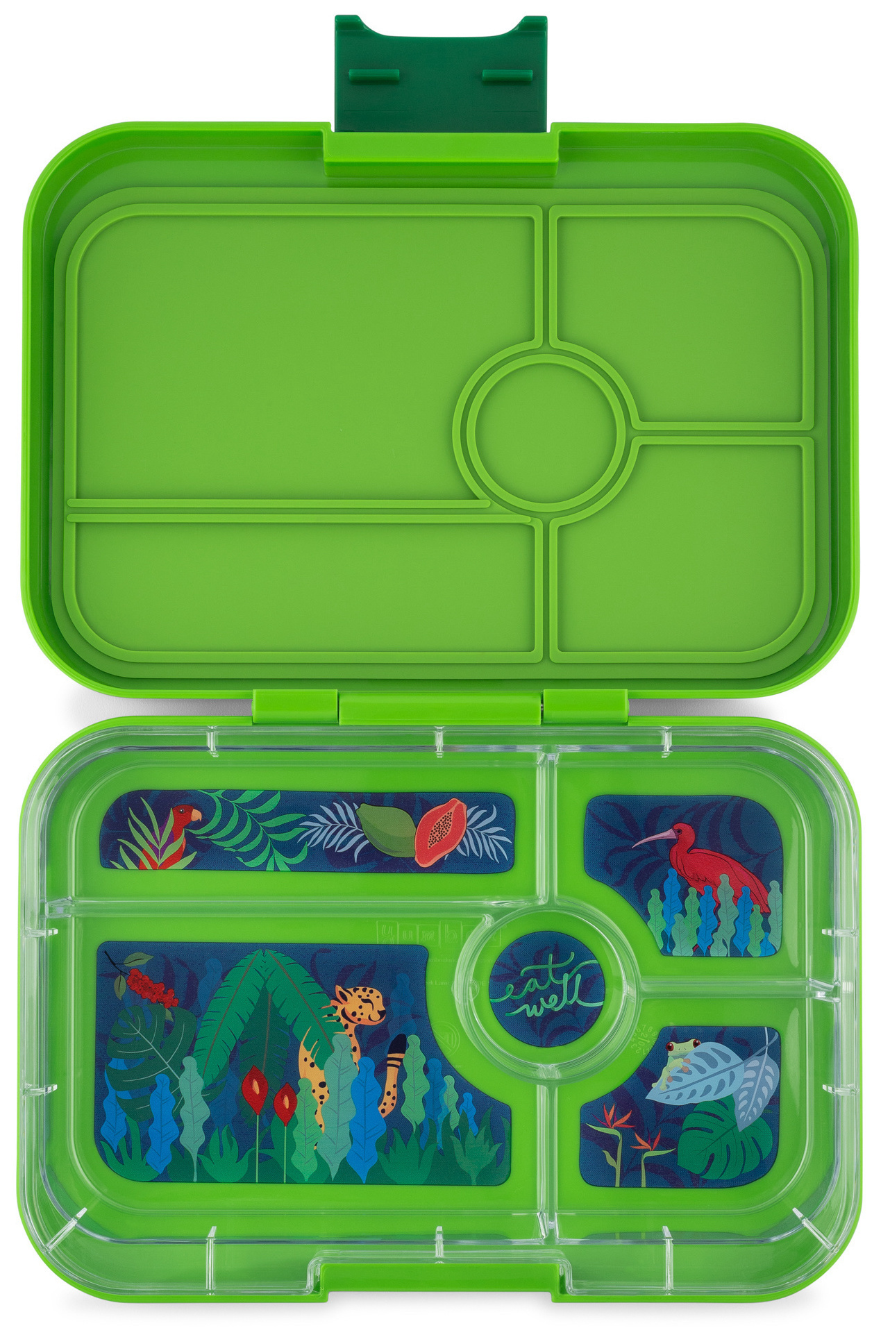 Yumbox Tapas XL lunchbox Go groen / Jungle tray 5-sections-1