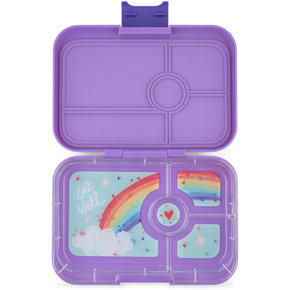 Yumbox Tapas XL lunchtrommel Dreamy paars / Rainbow tray 4-vakken