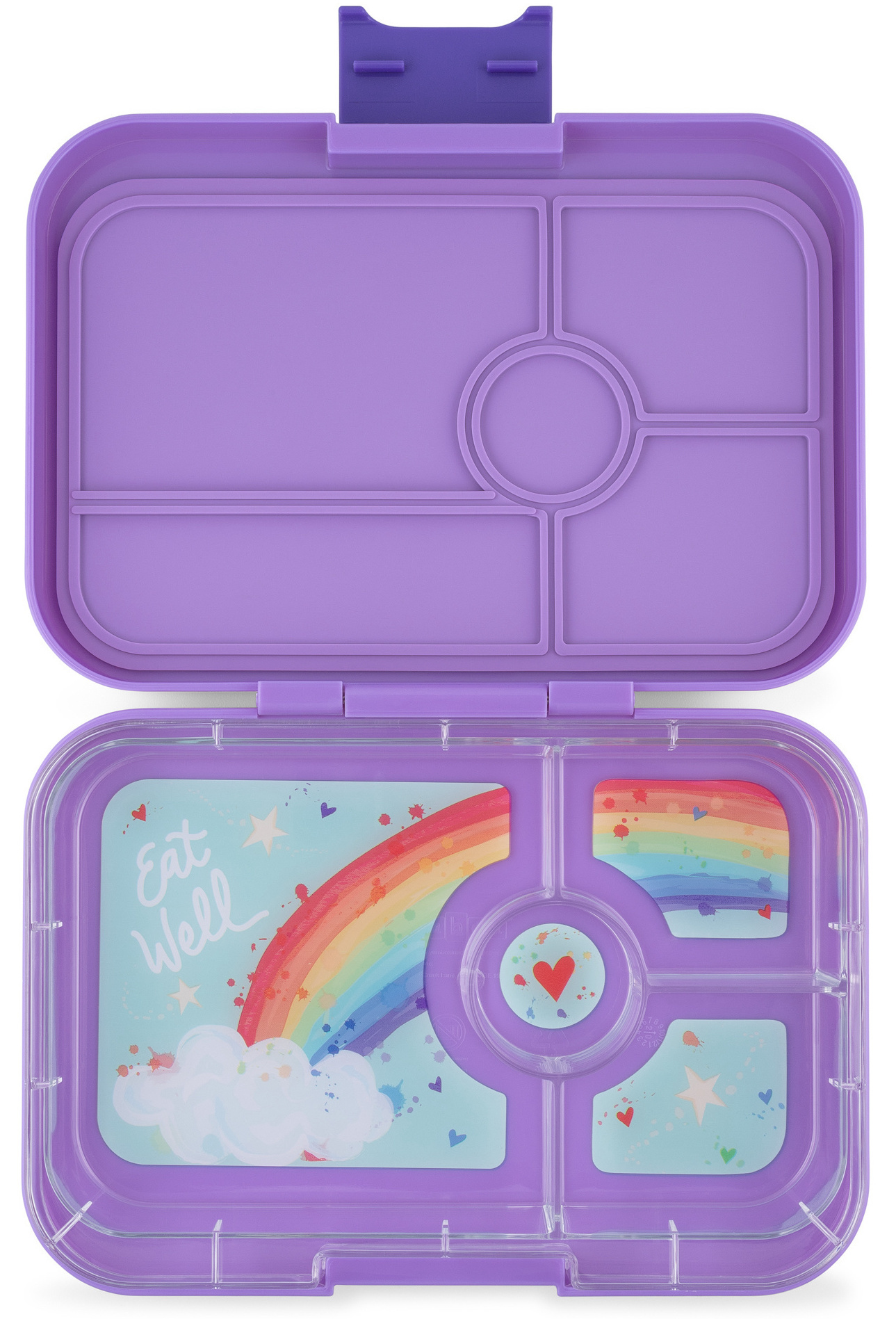 Yumbox Tapas XL 4-sections Dreamy paars / Rainbow tray-1