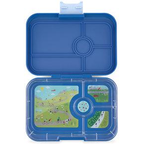 Yumbox Tapas XL lunchbox True blue / Bike race tray 4-sections