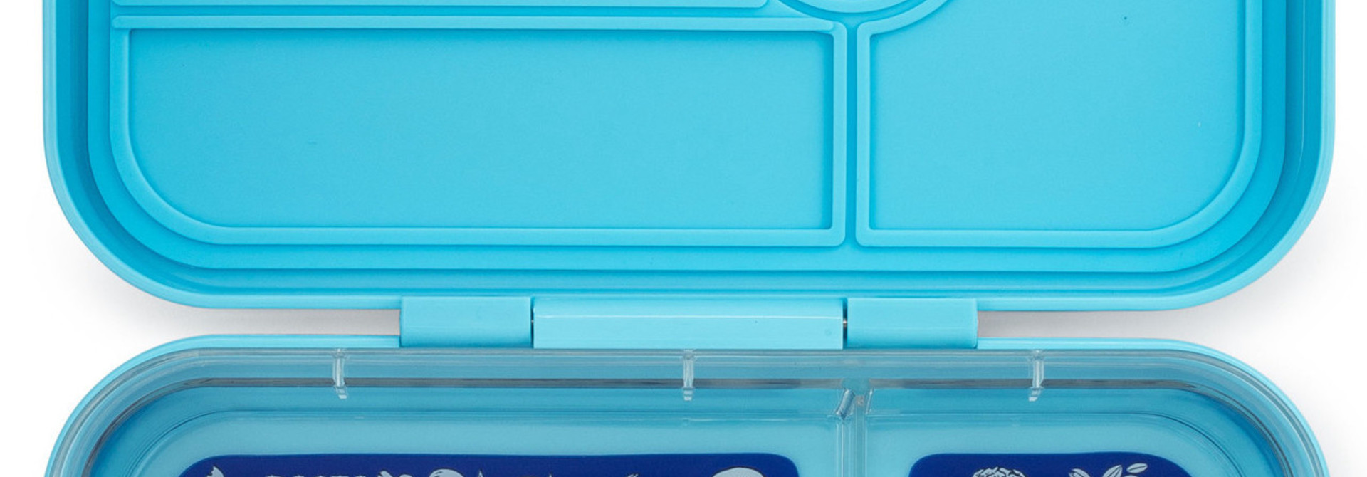 Yumbox Tapas XL lunchbox Nevis blue / Bon appetit tray 5-sections