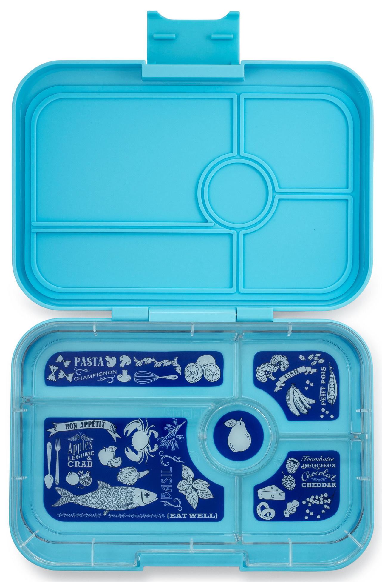 Yumbox Tapas XL lunchbox Nevis blue / Bon appetit tray 5-sections-1