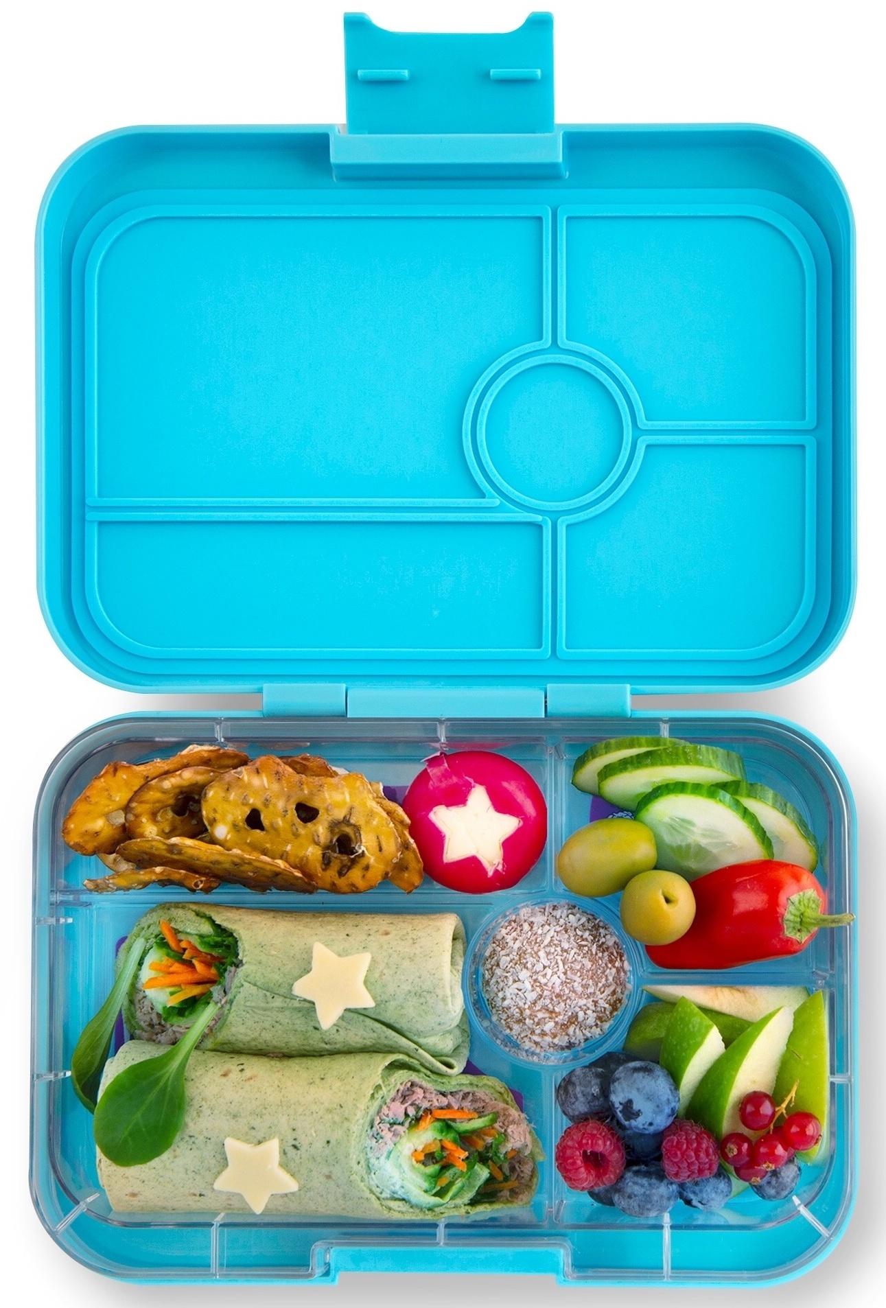 Yumbox Tapas XL lunchbox Nevis blue / Bon appetit tray 5-sections-2
