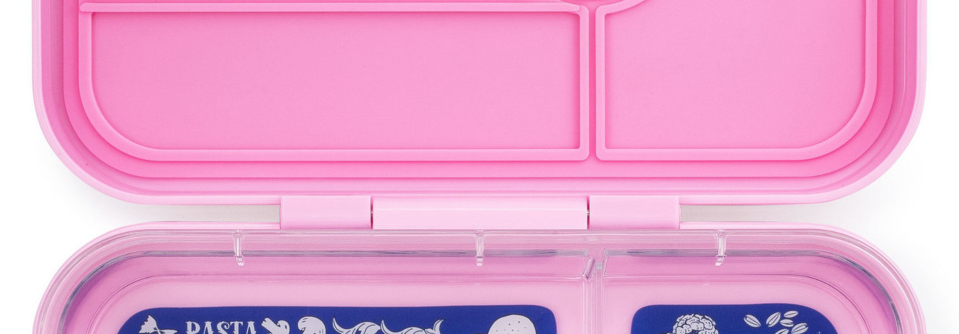 Yumbox Tapas XL lunchtrommel Stardust roze / Bon appetit tray 5-vakken
