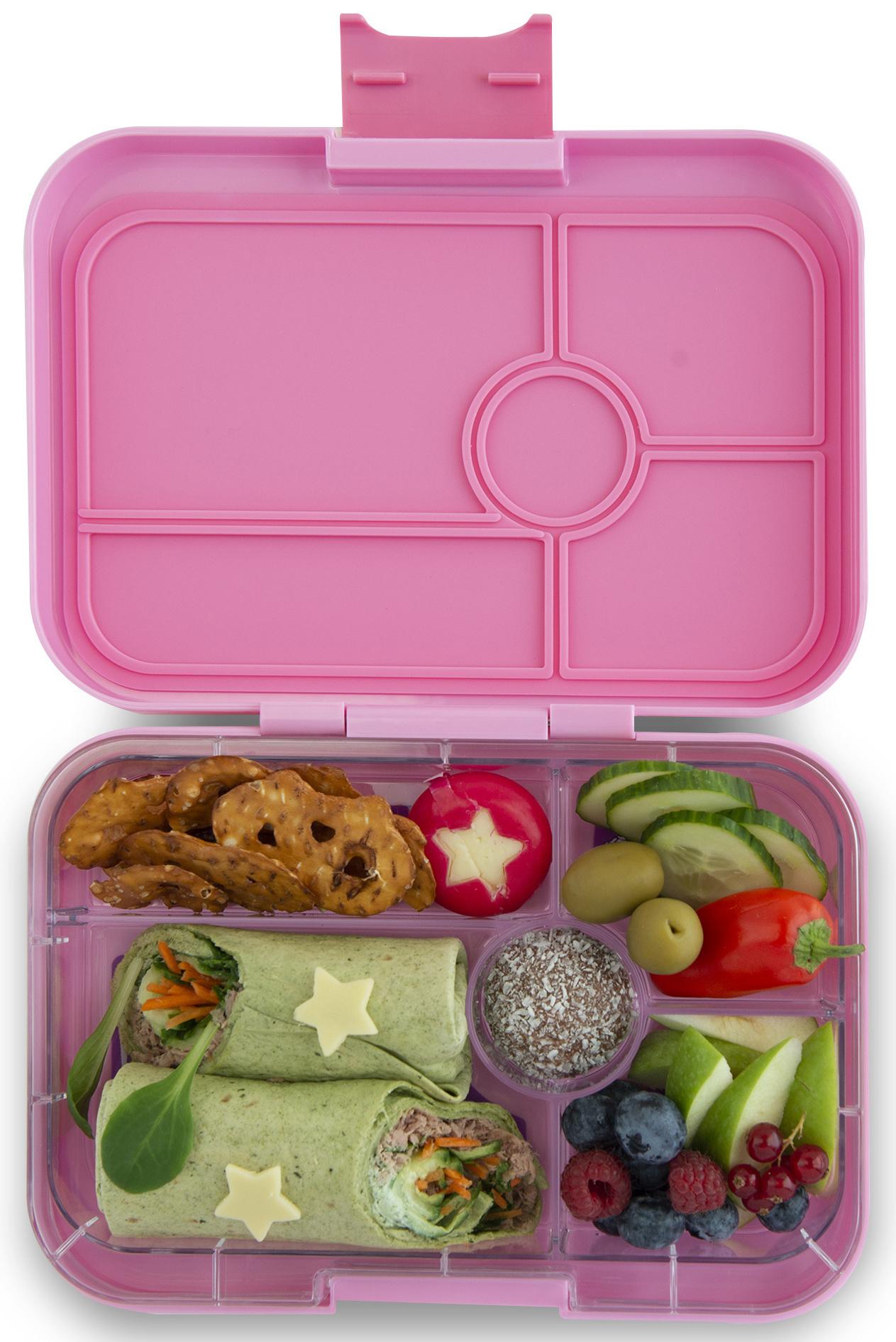 Yumbox Tapas XL lunchtrommel Stardust roze / Bon appetit tray 5-vakken-2
