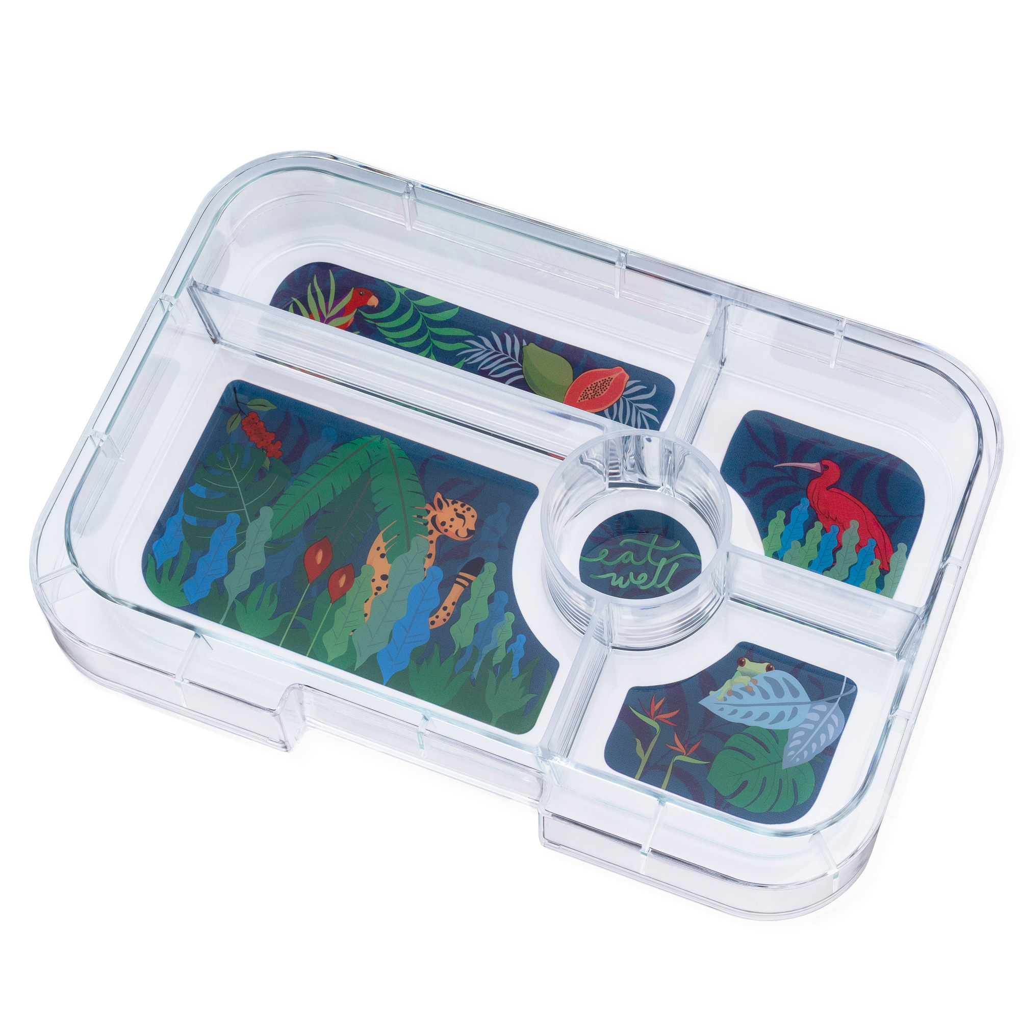 Yumbox Tapas XL extra tray 5-sections Jungle-1