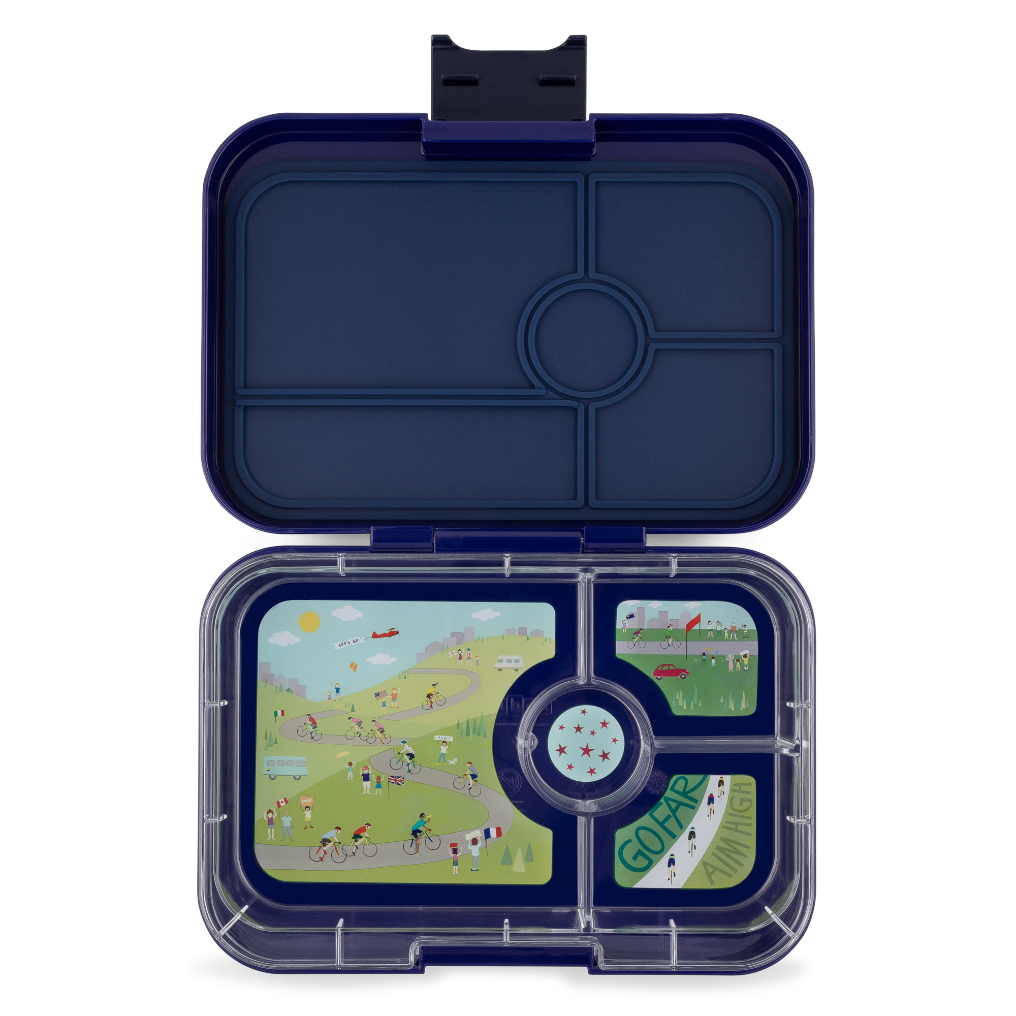 Yumbox Tapas XL 4-sections Portofino blue / Bike race tray 4 sections-4