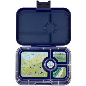 Yumbox Tapas XL lunchbox Portofino blue / Bike race tray 4 sections
