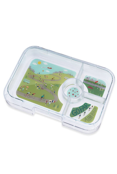 Yumbox Tapas XL tray 4-sections Bike race