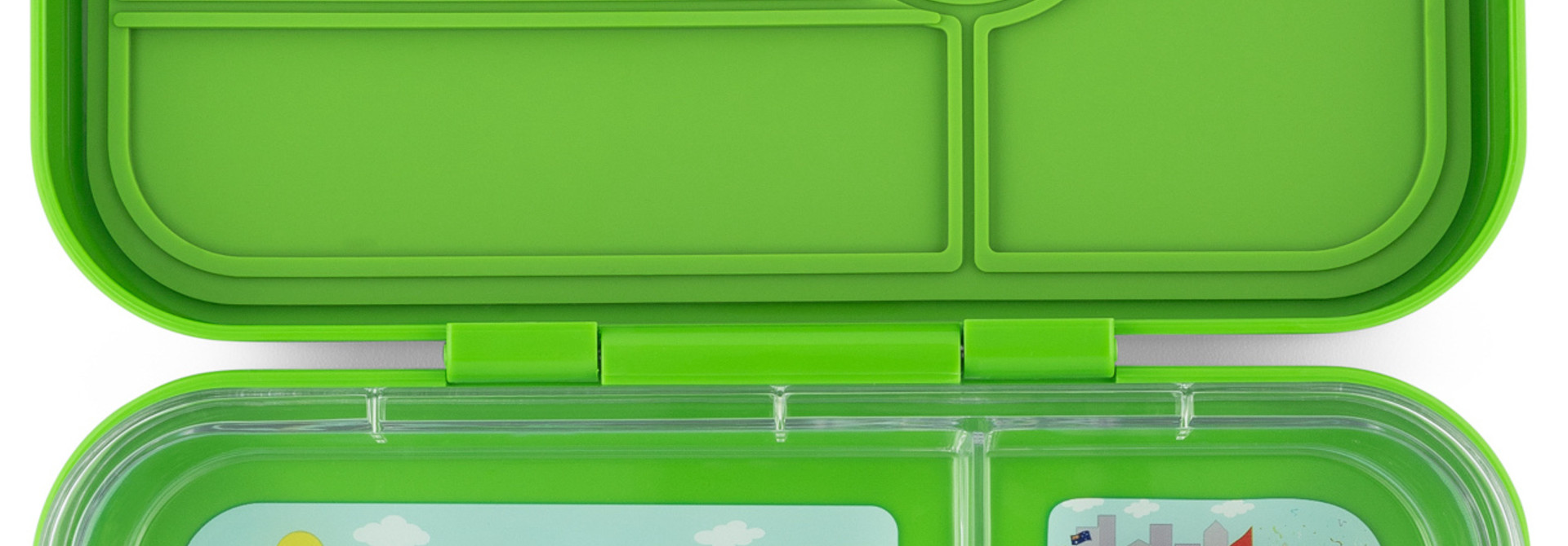 Yumbox Tapas XL 4-sections Go green / Bike race tray