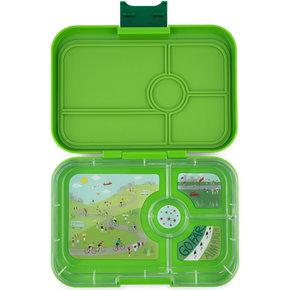 Yumbox Tapas XL lunchbox Go green / Bike race tray 4-sections