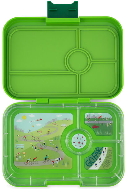 Yumbox Tapas XL 4-sections Go green