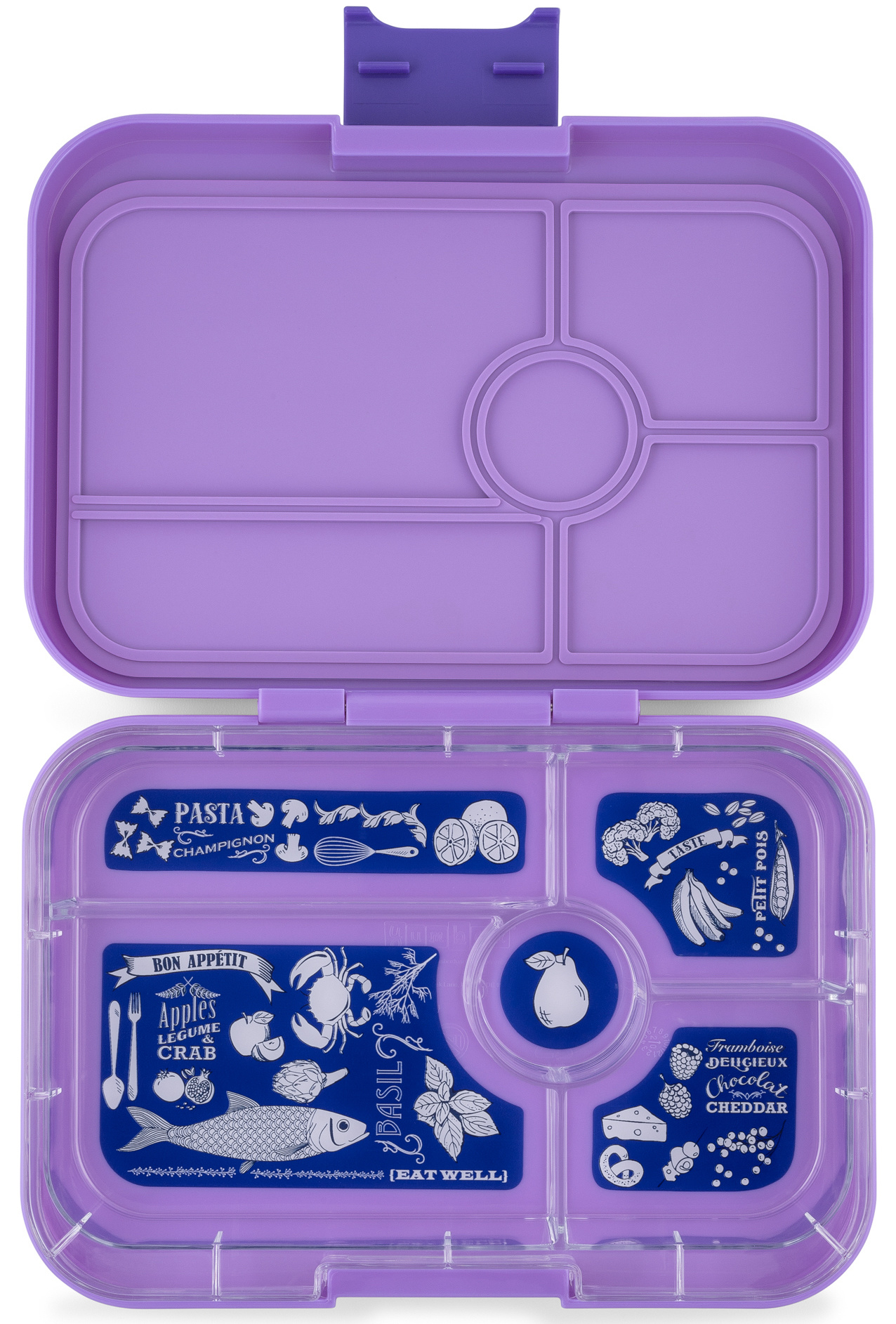 Yumbox Tapas XL lunchbox Dreamy Purple / Bon appetit 5-sections-1
