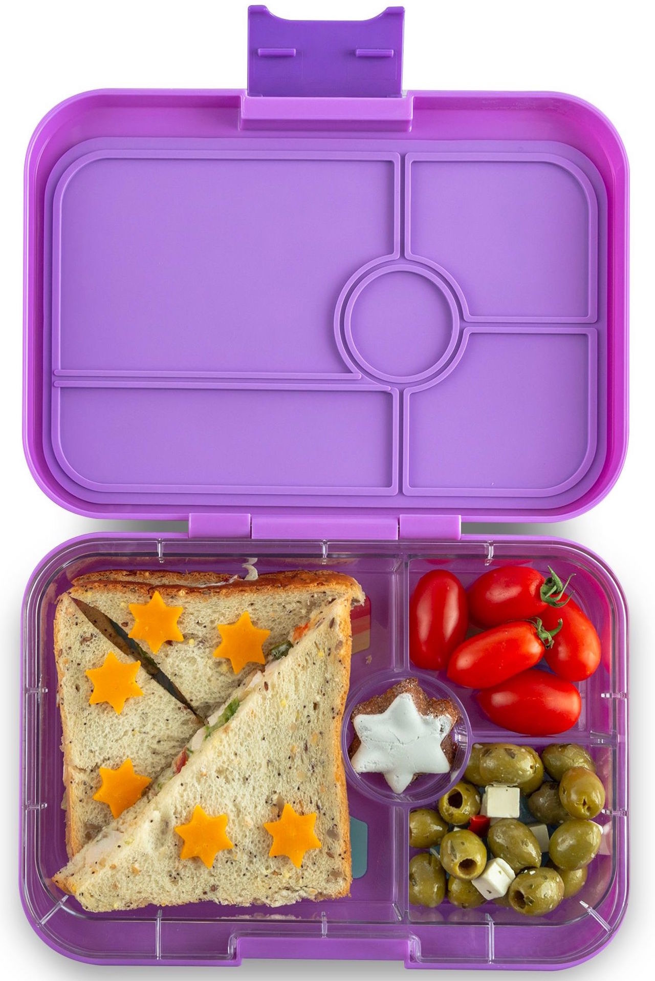 Yumbox Tapas XL 4-sections Dreamy paars / Rainbow tray-2