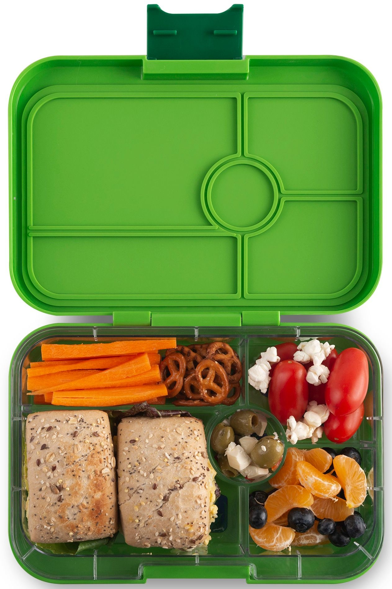 Yumbox Tapas XL lunchbox Go groen / Jungle tray 5-sections-2