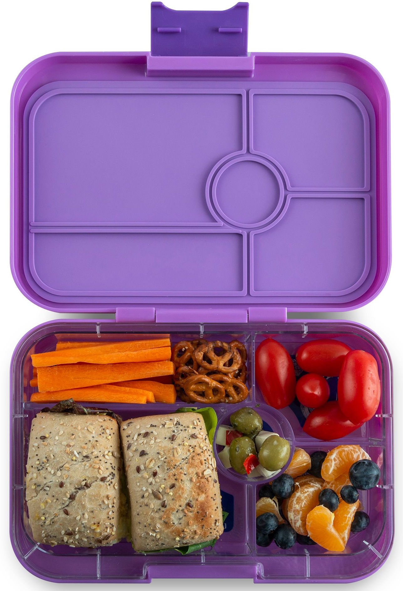 Yumbox Tapas XL lunchbox Dreamy Purple / Bon appetit 5-sections-2